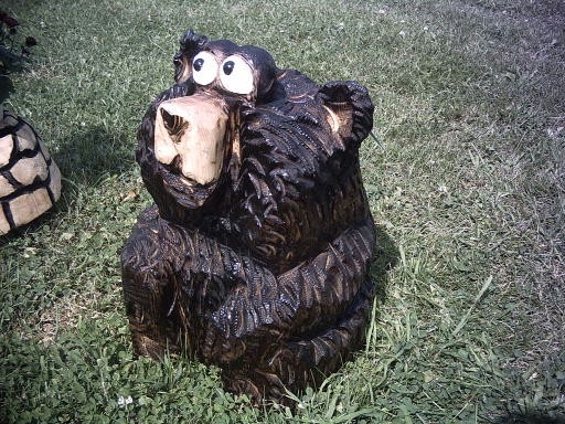 Large red cedar owl chainsaw carving etsy
